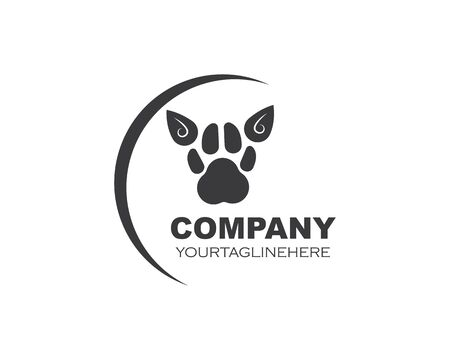 paw logo icon of pet vector template