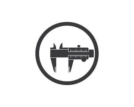 caliper logo icon vector illustration design template Фото со стока - 129686961