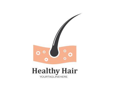 hair root icon vector illustration design template  イラスト・ベクター素材
