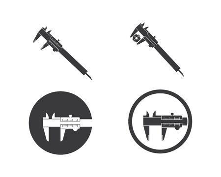 caliper logo icon vector illustration design template Illustration
