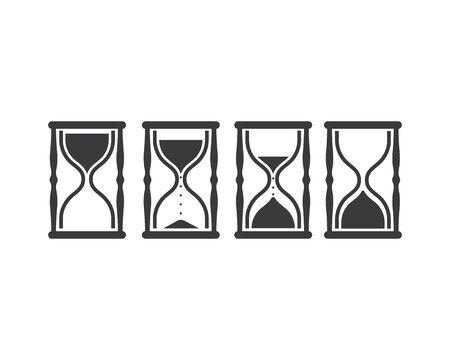 sand clock icon vector illustration design template