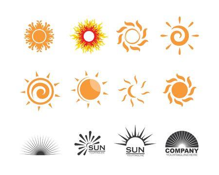 sun ilustration logo vector icon template Çizim