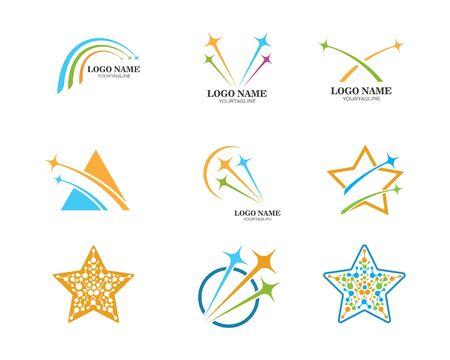 Star Logo Template vector icon illustration design Ilustrace