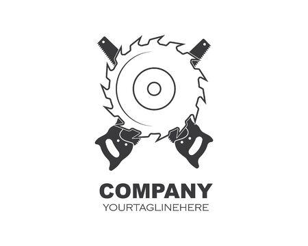 zaagblad logo pictogram vector illustratie ontwerp