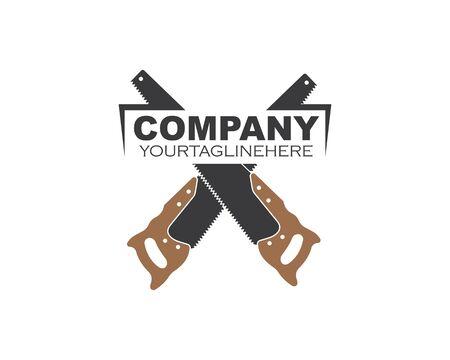 Scie main logo icône vector illustration design
