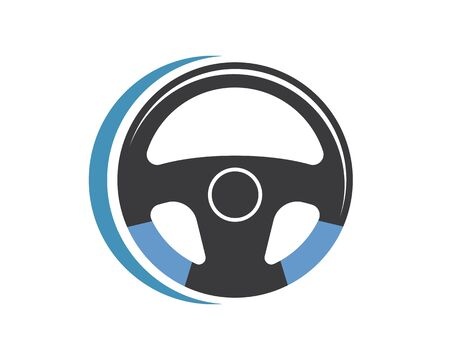 steering wheel logo icon vector illustration design Illustration