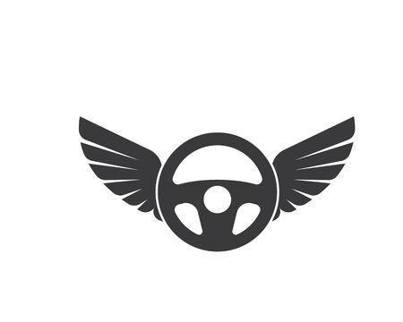 steering wheel logo icon vector illustration design Иллюстрация
