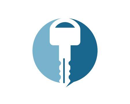 key logo icon vetor illustration design template