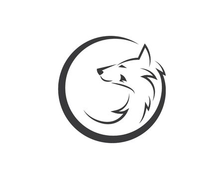 Wolf Logo icon vector illustration design template