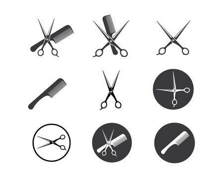 scissor icon logo vector illustration template