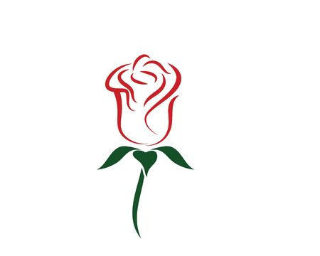 Rose flower Logo vector Template design