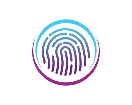 fingerprint logo icon illustration vector template design