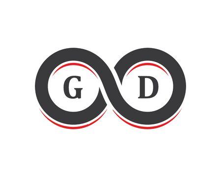 Infinity logo Vector icon template Ilustracja