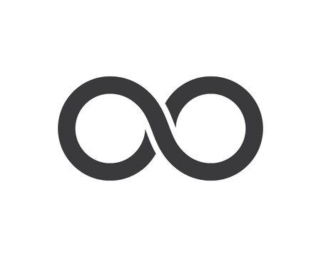 Infinity logo Vector icon template Imagens - 130156977