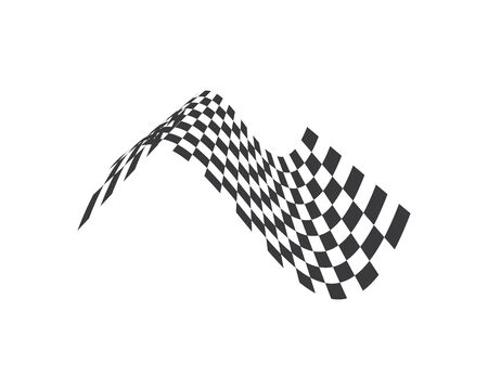 racing flag icon of automotif illustration vector template