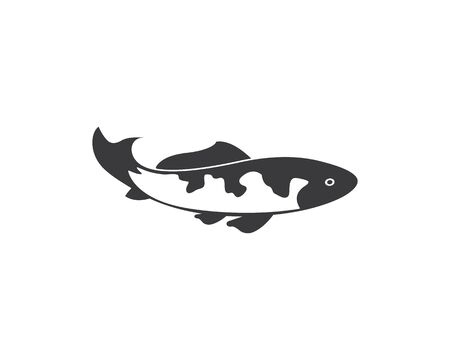 Koi fish vector template