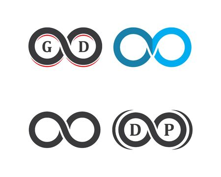 Infinity logo icon vector illustration design template