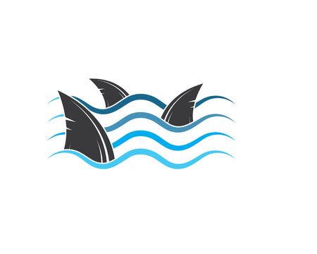 shark fin icon vector illustration design