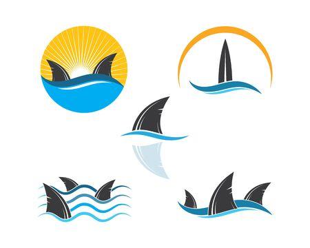 shark fin icon vector illustration design Фото со стока - 130156510