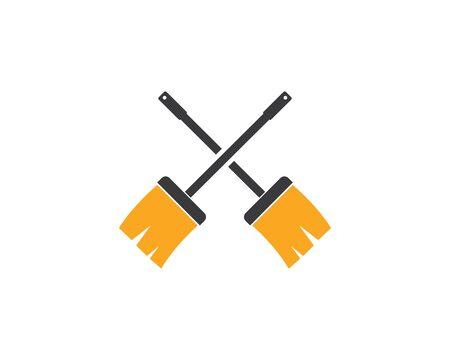 broom illustration vector template,symbol of cleaner Ilustrace