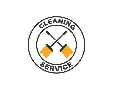 broom illustration vector template,symbol of cleaner 스톡 콘텐츠 - 130156514