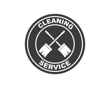 broom illustration vector template,symbol of cleaner 스톡 콘텐츠 - 130156516