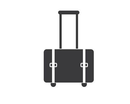 suitcase icon logo vector illustration design Illusztráció