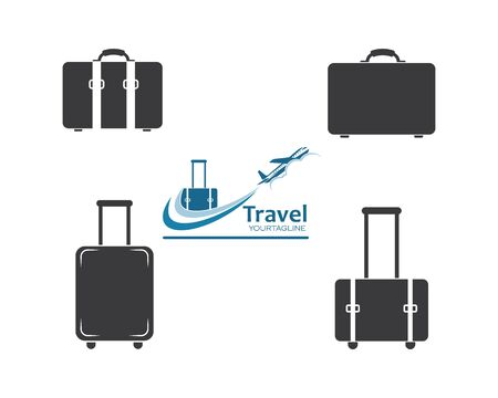 suitcase icon logo vector illustration design Ilustração