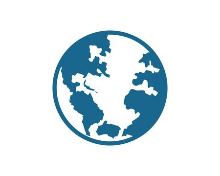 earth icon vector logo illustration design