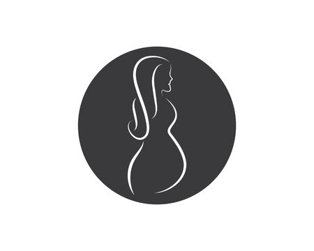 beauty pregnant women vector icon template Ilustrace