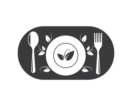 vegetarian icon logo vector illustration design