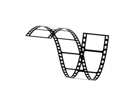 filmstrip vector illustration design template Vettoriali