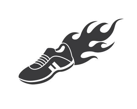 shoes icon logo vector illustration design template