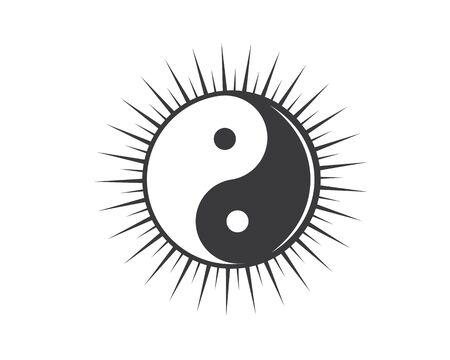 yin yang vector icon illustration design template Ilustrace