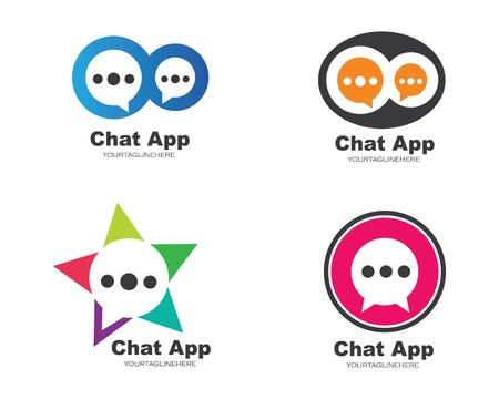 speech bubble logo icon vector template Illustration