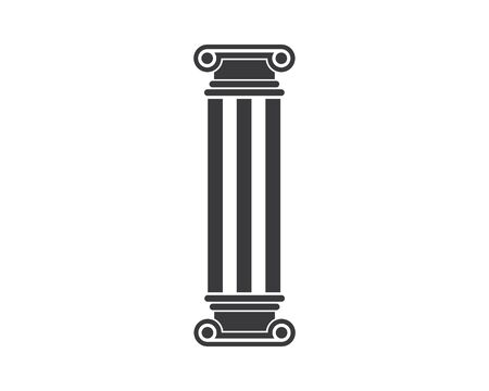 pillar Logo vector Template illustration design Illustration