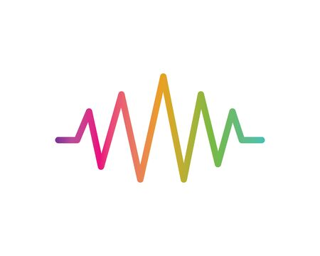 sound wave,pulse line,equaizer and sound effect ilustration logo vector icon template