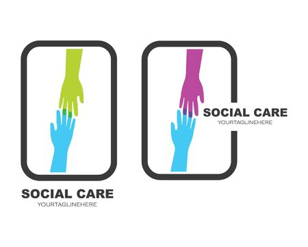 Hand care vector icon illustration design template