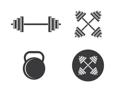 barbell vector  icon illustration design