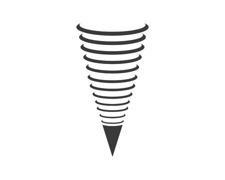 tornado wind icon logo vector illustration design