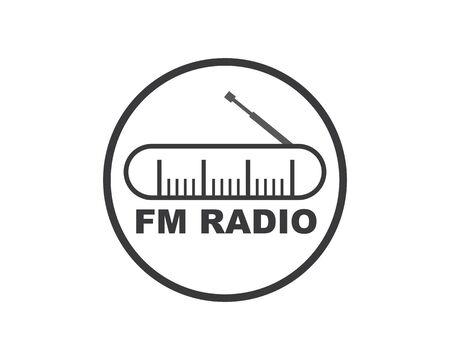 radio broadcast logo icon vector illustration design