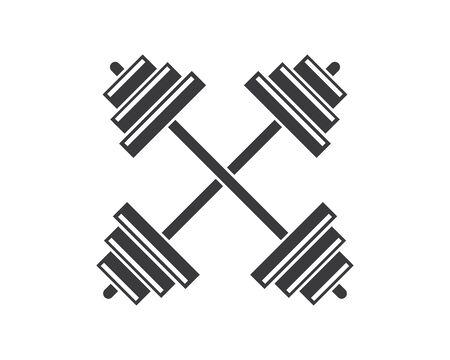 barbell vector  icon illustration design