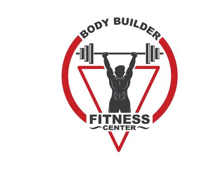 Bodybuilder fitness gym icon logo badge vector illustration design  イラスト・ベクター素材