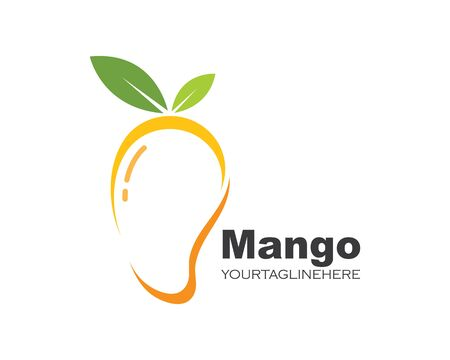 mango fruit vector illustration logo icon
