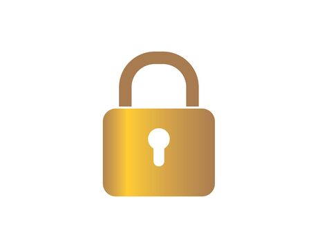 lock  vector illustration icon design
