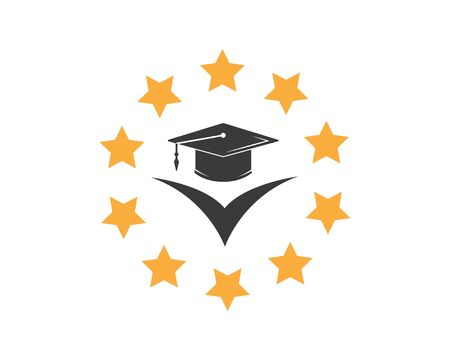 graduation cap diploma vector illustration design template