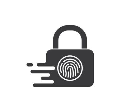 finger lock technology vector icon illustration design