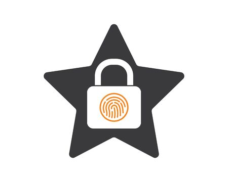 finger lock technology vector icon illustration design