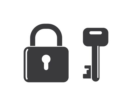 lock icon logo vector template illustration