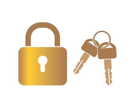 lock icon logo vector template illustration